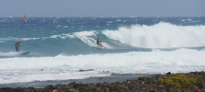 The best place for kitesurfers in the lower part of Cabezo